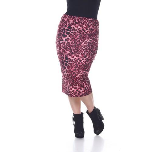 White Mark Women's Plus Size Mid knee Skirt
