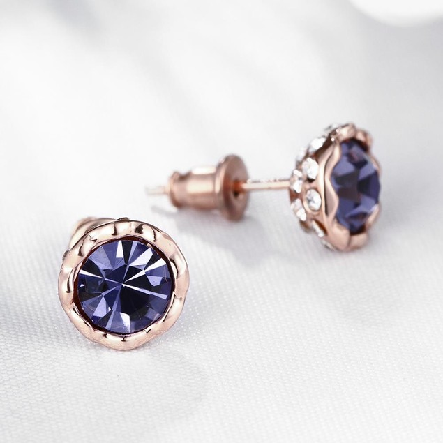 Gold Plated Crystal Bullet Studs