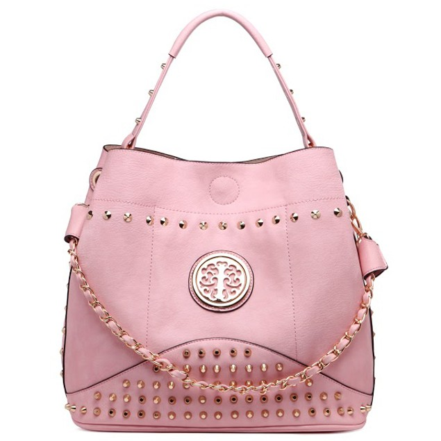 MKF Collection Studded Handbag with Removable Strap