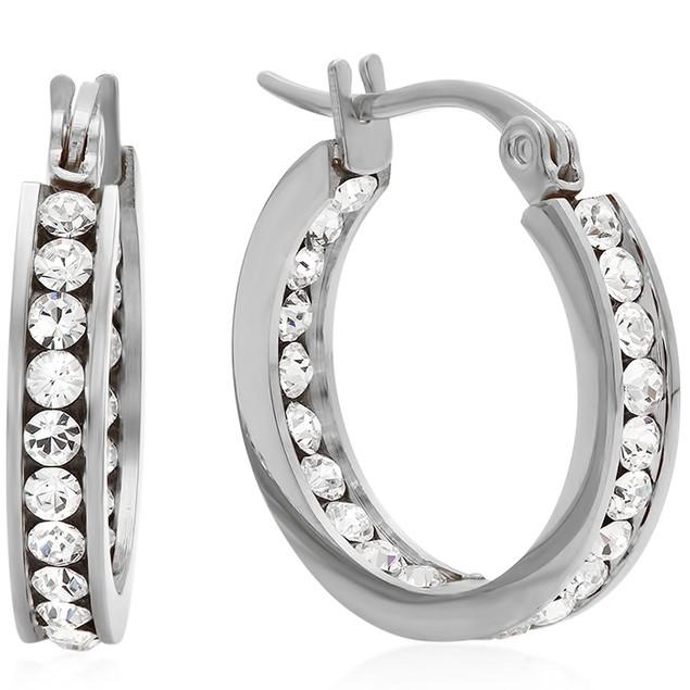 Ladies Elements Hoop Earrings