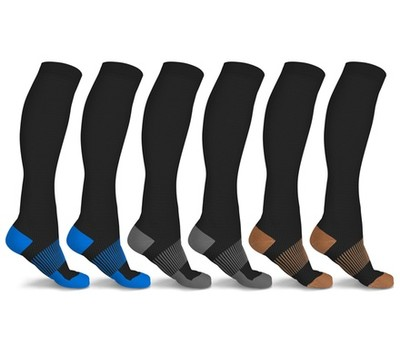 6 Pairs of xFit Copper-Infused Knee-High Compression Socks Was: $89 Now: $16.99.