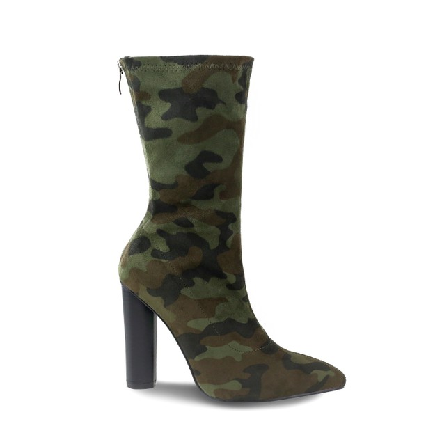 Olivia Miller 'Hollis' Camo printed Heel Ankle Booties