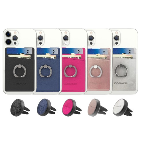 All In One Ring Grip Wallet & Magnetic Airvent Mount Combo Pack