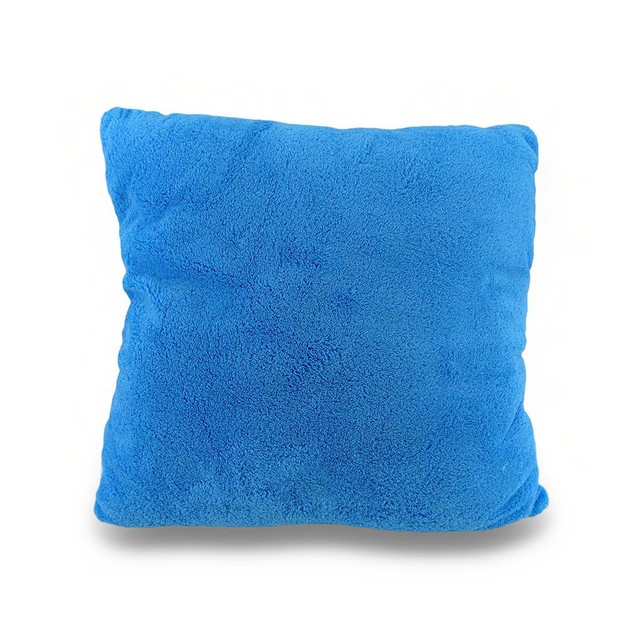 I Love Sea Lions Soft Blue And Brown Fuzzy 2D Throw Pillows