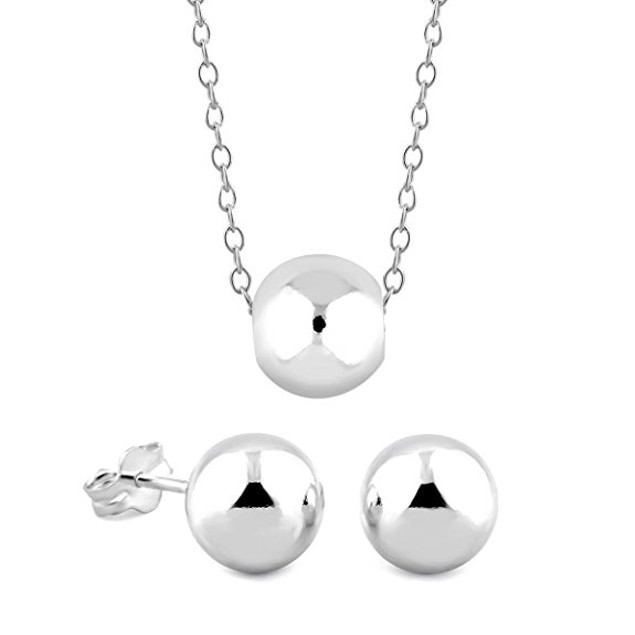 Earring And Necklace Ball Set