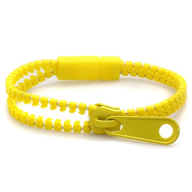 10-Pack Kids Zipper Bracelets, Assorted Colors