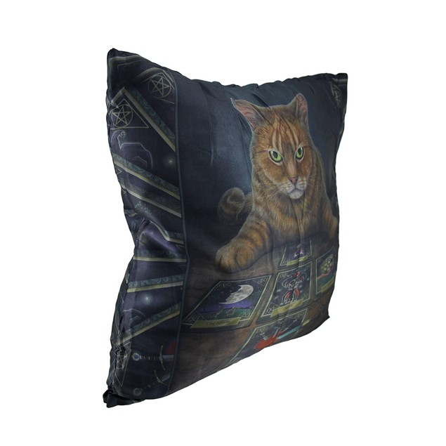 Lisa Parker 'The Reader' Cat And Tarot Cards Throw Pillows