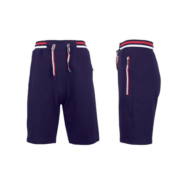 Men's Lounge Tech Jogger Shorts with Zipper Side Pockets (S-2XL)