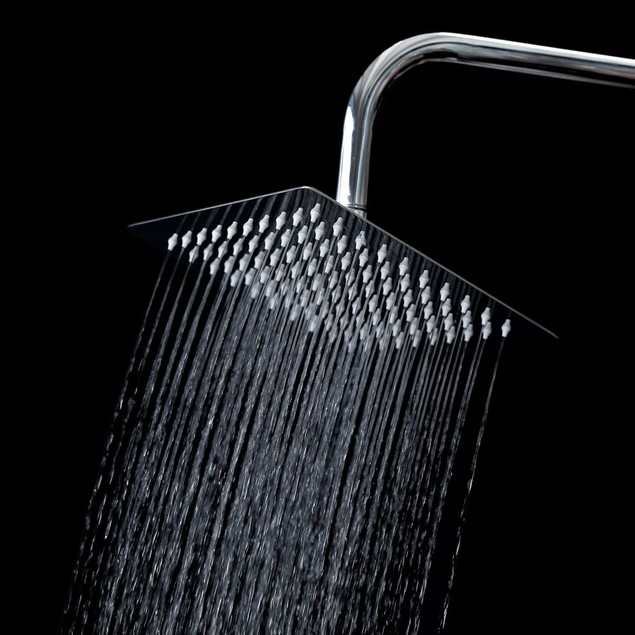 Nuvita Square Waterfall Shower Head Chrome - High Pressure Ultra-Thin