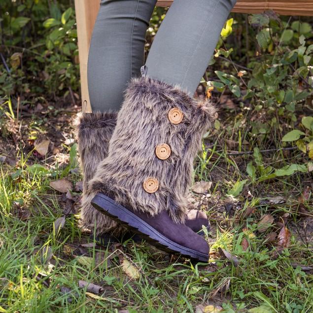 MUK LUKS Women's Reversible Andrea Boots