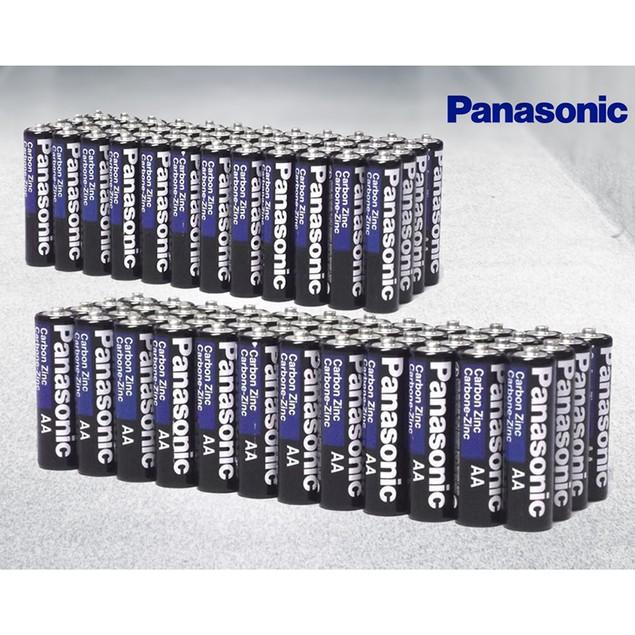 100-Pack: Panasonic Heavy-Duty AA or AAA Batteries