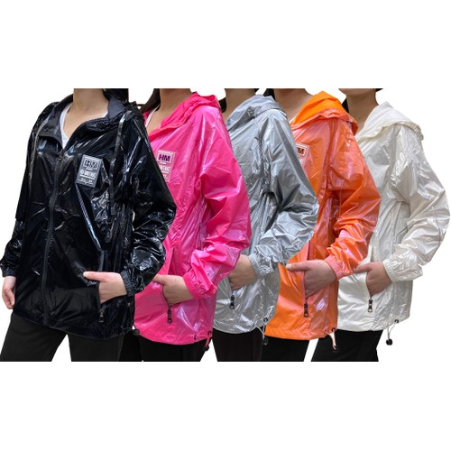 Women's Hooded Fashion Windbreaker (Sizes, S-XL)