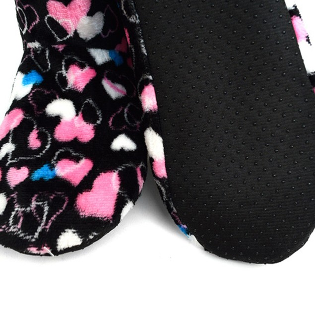 Nollia Women's Pattern Warm & Cozy Indoor Non-Slip Grip Slipper Booties