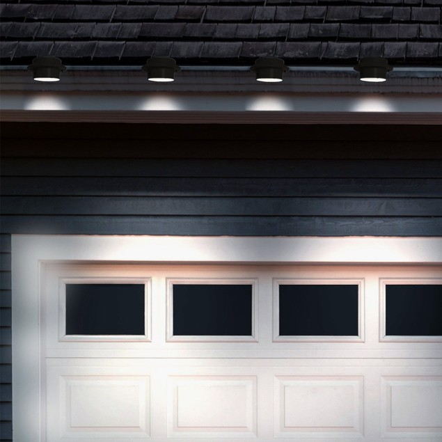 4-Pack: Solar-Powered LED Outdoor Lights (Black Or White)