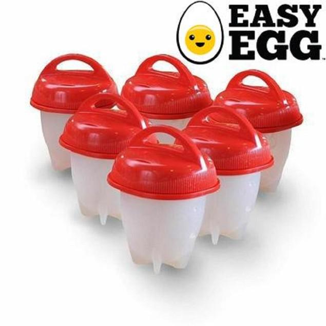 6-Pack: Easy Egg Silicone Egg Cooker
