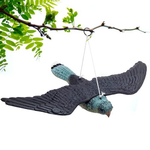 Premium Bird Repellent Fake Flying Hawk Decoy