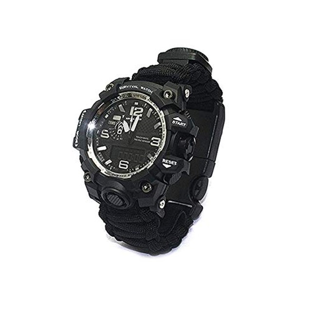 Outdoor Nation Survival Bracelet Watch with Military Paracord
