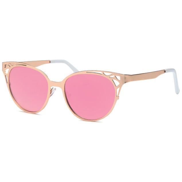 Gold Eyeshine Fashion Revo Pink Lens Glasses