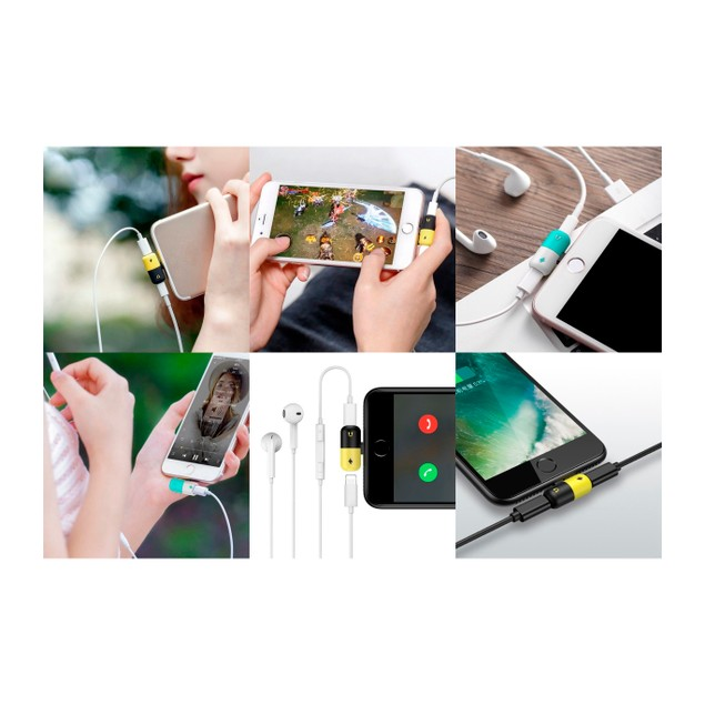 Dual Colored Lightning Splitter For iPhone