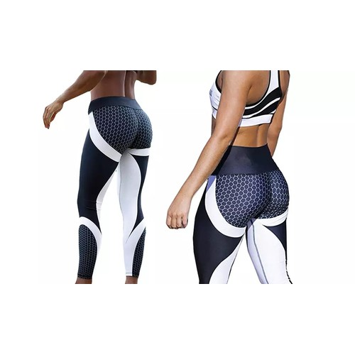 High-Waisted Honeycomb Design Ruched workouts Fitness Yoga Gym Leggings Pants