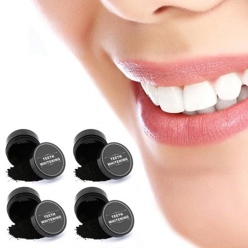 4-Pack: Natural Charcoal Teeth Whitening Shining  Powder
