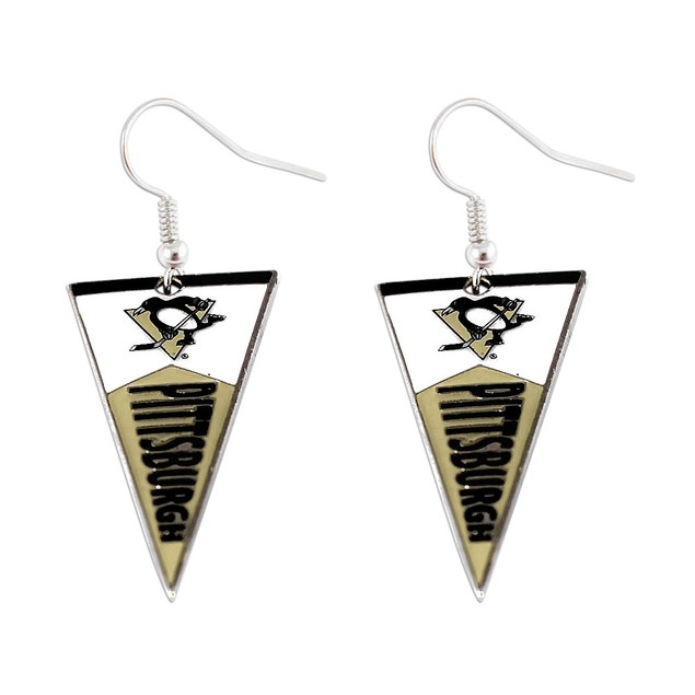 NHL Sports Team Logo Pennant Earring