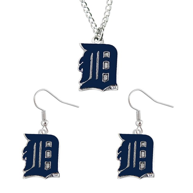MLB Necklace and Dangle Earring Charm Set