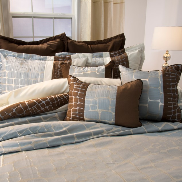 Lavish Home Ashley 9 Piece Comforter Set