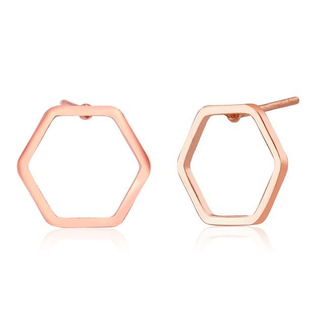 Hexagon Stud Earrings