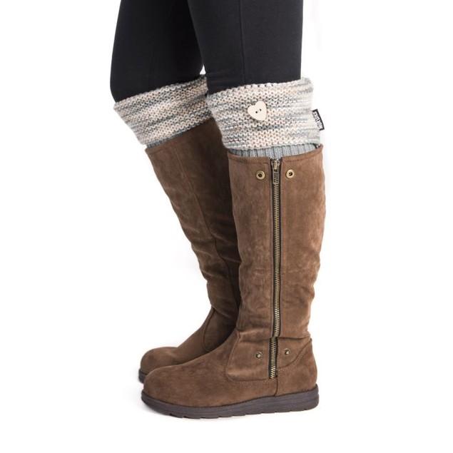 MUK LUKS  Women's 1-Pair Heart Boot Toppers