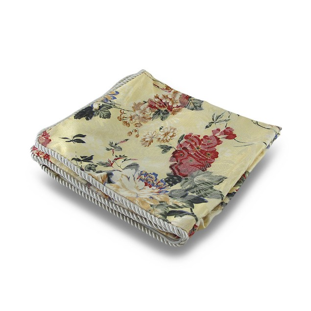 Floral Print Light Yellow Throw Pillow Cover Throw Pillow Covers
