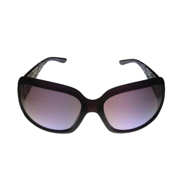 Ellen Tracy Womens Sunglass 505 3 Eggplant Plastic Rectangle, Gradient Lens