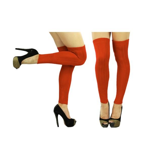 Women's Acrylic Thigh High Knit Long Leg Warmers