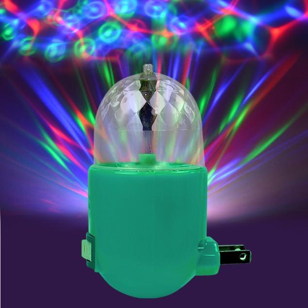 LED Plug in Disco Rotating Night Lamp