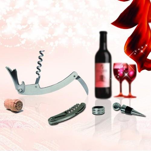3 Piece Multi-function Wine Opener Kit