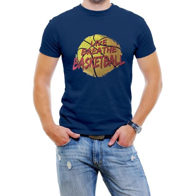 """Live Breathe Basketball"" Men's T-Shirt"