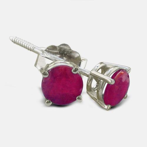 1/2ct Ruby Stud Earrings in Sterling Silver