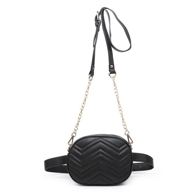 MKF Collection Shawnie 2 in 1 Chevron Quilted Crossbody and Belt