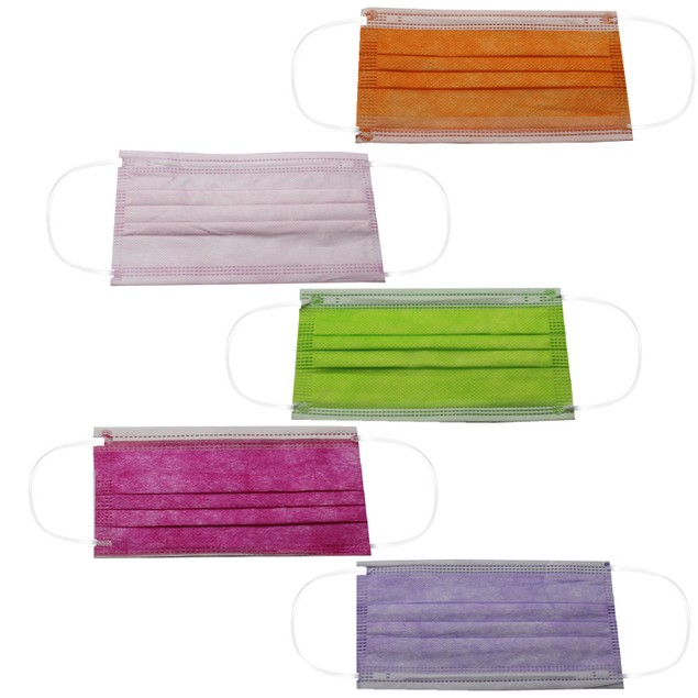 Non-Medical Disposable 3-Ply Color Face Masks (Multi-Colors Available)