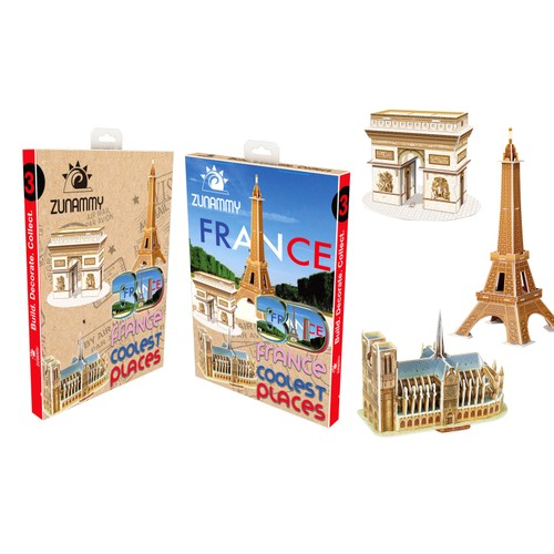Zunammy 3D Pop Up France Coolest Place Puzzle