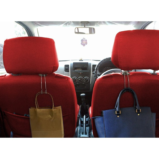 2-Pack Zone Tech Car Headrest Metal Bag Hanger Hooks