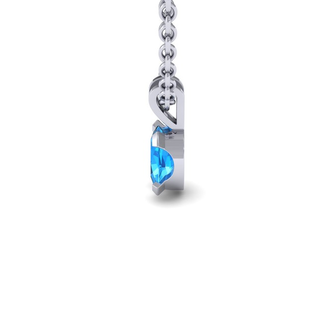 1.65cttw Oval-Cut Blue Topaz Necklace & Earring Set In Sterling Silver