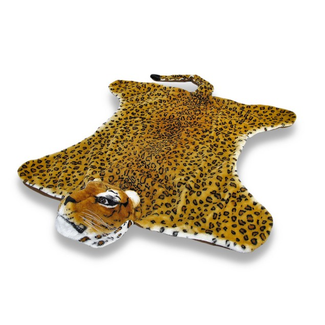 Decorative Safari Plush Leopard Decorative Rug Area Rugs