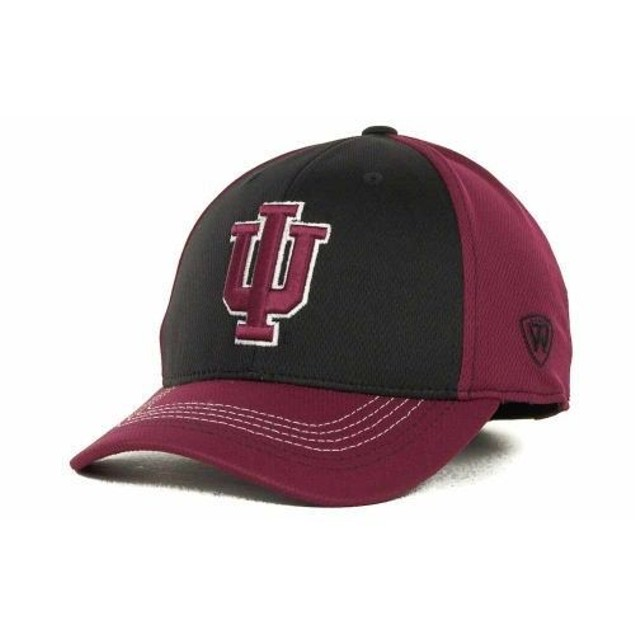 "Indiana Hoosiers NCAA TOW ""Goal Line"" Stretch Fitted Hat"