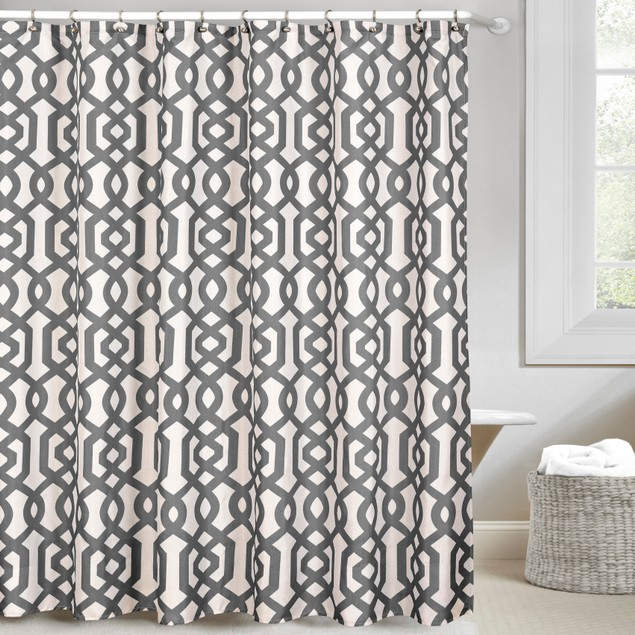 Ruthy's Textile Patterned Shower Curtain 70-Inch By 72-Inch