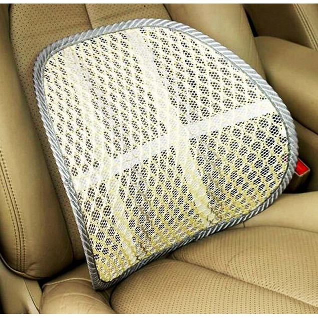 Zone Tech Mesh Hollow Car Chair Seat Beige Back Spine Lumbar Support Pillow