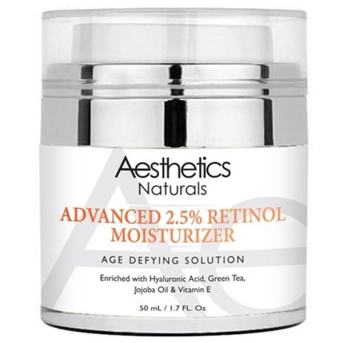 Aesthetics Naturals Retinol 2.5% High Potency Anti-Aging Cream, 1.7 fl oz