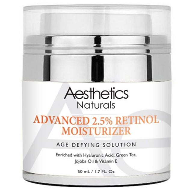 Aesthetics Naturals Retinol 2.5% High Potency Anti-Aging Cream, 1.7 fl oz