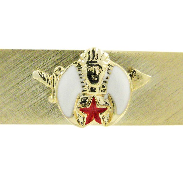 Gold Plated Shriners Logo Tie Clip Clasp Shrine Mens Tie Clips
