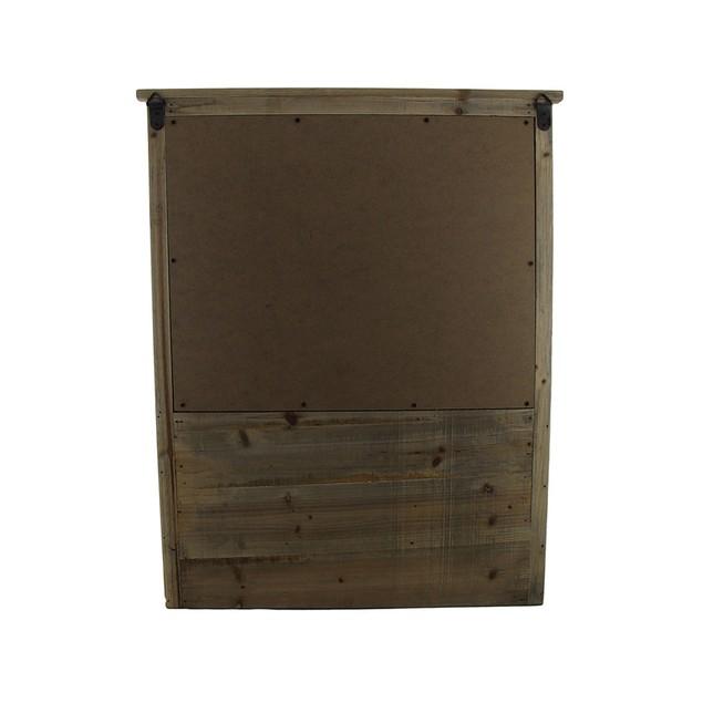 Rustic French Farmhouse Style Wooden Chalkboard Mail Center Organizer Key R